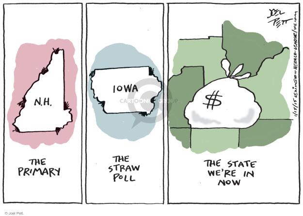 Cartoonist Joel Pett  Joel Pett's Editorial Cartoons 2015-01-15 state