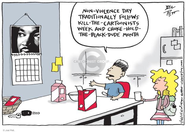 Joel Pett  Joel Pett's Editorial Cartoons 2015-01-16 holiday