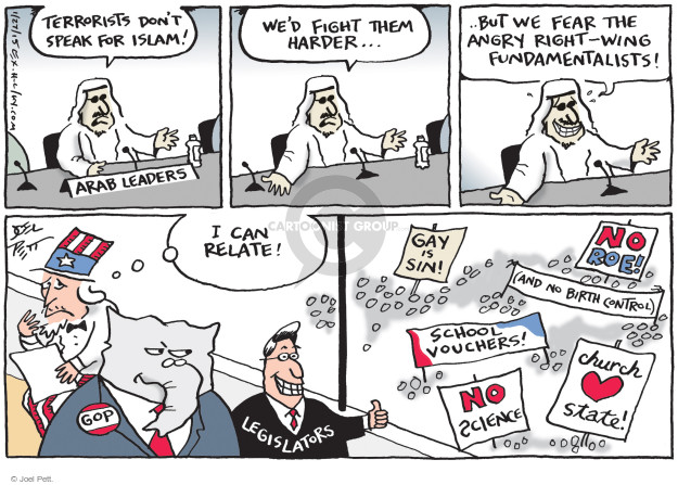 Cartoonist Joel Pett  Joel Pett's Editorial Cartoons 2015-01-27 terror