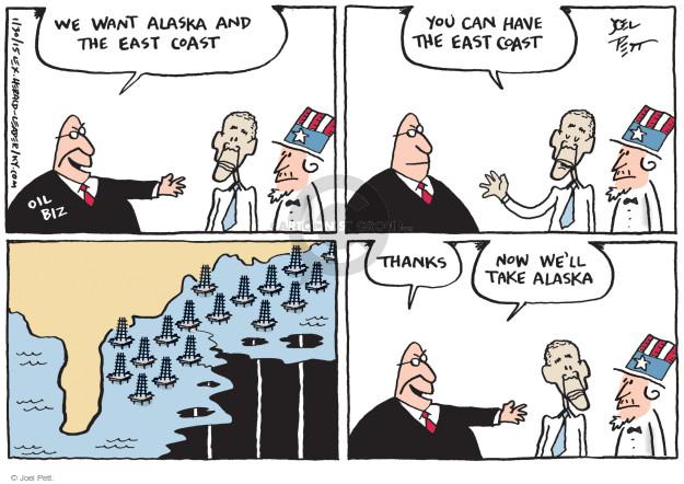 Cartoonist Joel Pett  Joel Pett's Editorial Cartoons 2015-01-30 Alaska