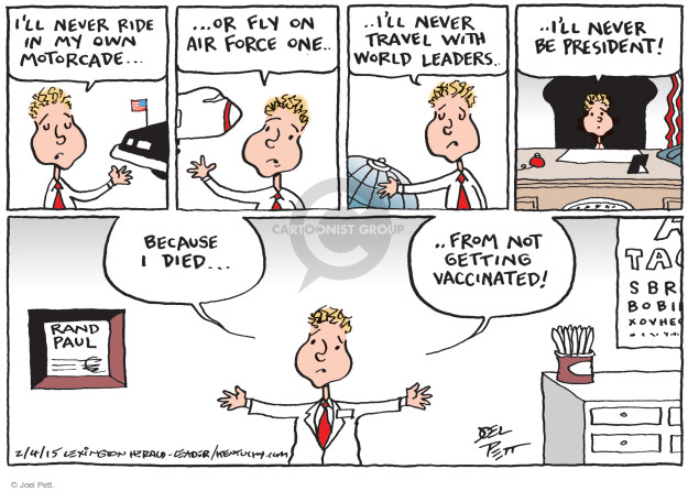 Joel Pett  Joel Pett's Editorial Cartoons 2015-02-04 Rand Paul