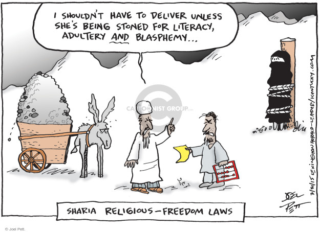 Cartoonist Joel Pett  Joel Pett's Editorial Cartoons 2015-03-31 RFRA