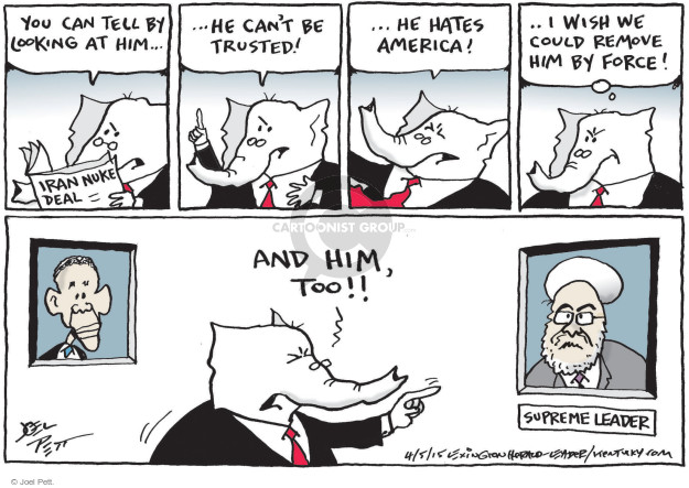 Cartoonist Joel Pett  Joel Pett's Editorial Cartoons 2015-04-05 Republican opposition