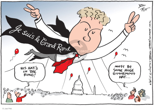 Joel Pett  Joel Pett's Editorial Cartoons 2015-04-08 Rand Paul
