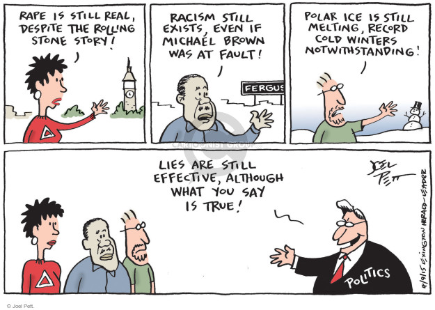 Cartoonist Joel Pett  Joel Pett's Editorial Cartoons 2015-04-09 duplicity