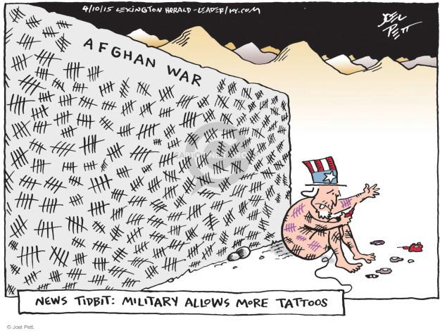 Cartoonist Joel Pett  Joel Pett's Editorial Cartoons 2015-04-10 Afghan