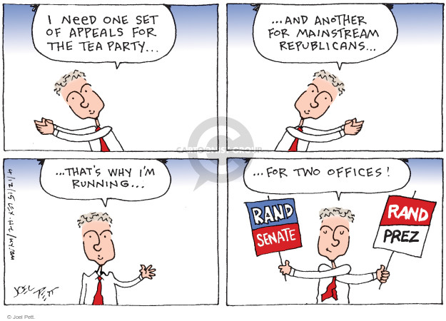 Joel Pett  Joel Pett's Editorial Cartoons 2015-04-12 Rand Paul