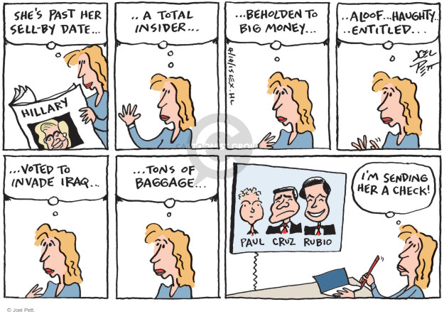 Joel Pett  Joel Pett's Editorial Cartoons 2015-04-14 Rand Paul