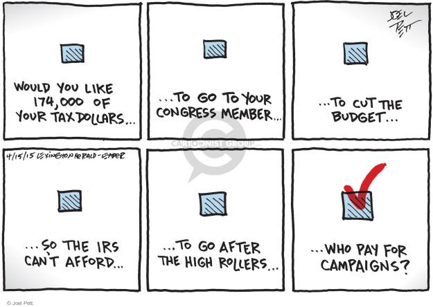 Joel Pett  Joel Pett's Editorial Cartoons 2015-04-15 budget