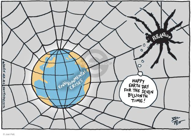 Cartoonist Joel Pett  Joel Pett's Editorial Cartoons 2015-04-21 earth day