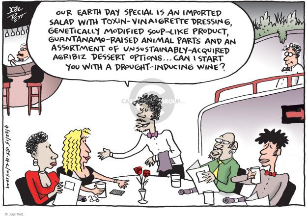 Cartoonist Joel Pett  Joel Pett's Editorial Cartoons 2015-04-22 earth day