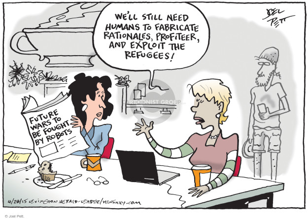 Cartoonist Joel Pett  Joel Pett's Editorial Cartoons 2015-04-28 exploitation