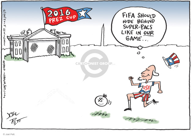 Cartoonist Joel Pett  Joel Pett's Editorial Cartoons 2015-05-29 soccer