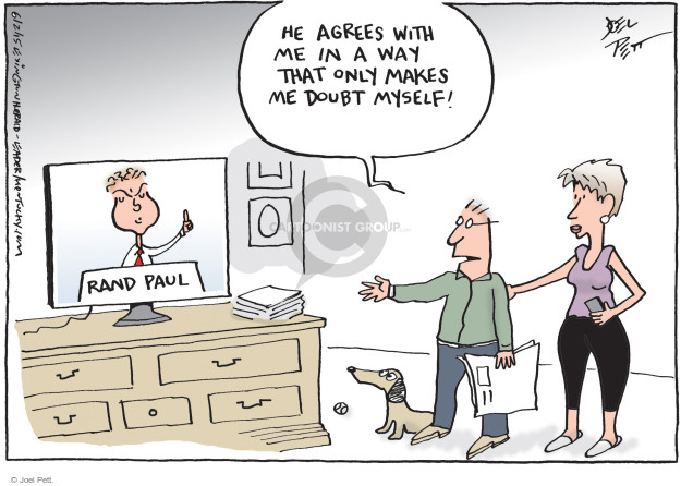 Joel Pett  Joel Pett's Editorial Cartoons 2015-06-02 Rand Paul