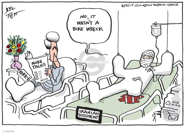 Cartoonist Joel Pett  Joel Pett's Editorial Cartoons 2015-06-05 accident