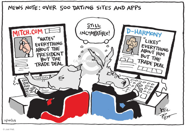 Cartoonist Joel Pett  Joel Pett's Editorial Cartoons 2015-06-14 partisan politics