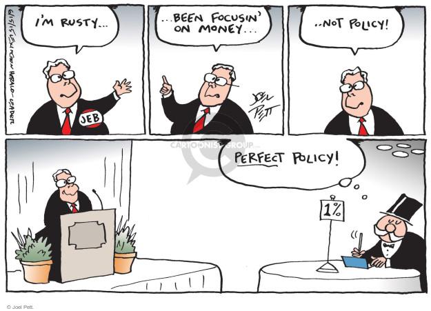 Cartoonist Joel Pett  Joel Pett's Editorial Cartoons 2015-06-16 bush