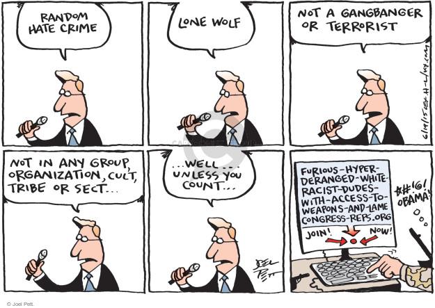 Joel Pett  Joel Pett's Editorial Cartoons 2015-06-19 racism