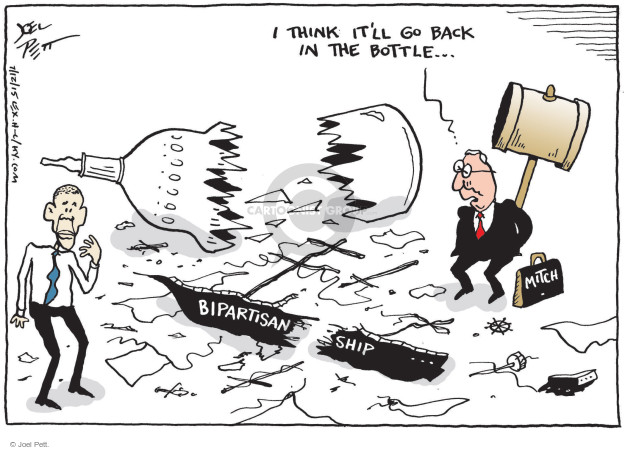 Cartoonist Joel Pett  Joel Pett's Editorial Cartoons 2015-07-12 partisan politics