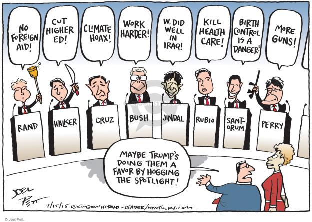 Joel Pett  Joel Pett's Editorial Cartoons 2015-07-15 2016 election Scott Walker