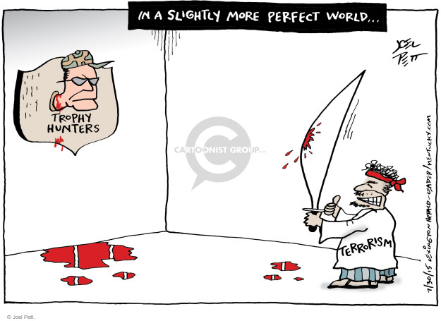 Cartoonist Joel Pett  Joel Pett's Editorial Cartoons 2015-07-30 terror