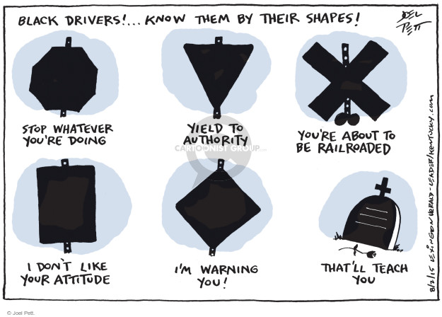 Cartoonist Joel Pett  Joel Pett's Editorial Cartoons 2015-08-02 police car