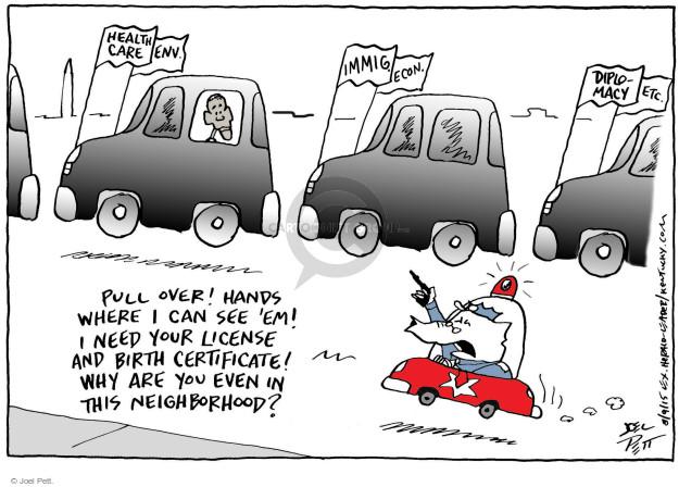Joel Pett  Joel Pett's Editorial Cartoons 2015-08-09 immigration