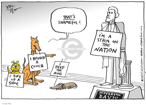 Joel Pett  Joel Pett's Editorial Cartoons 2015-08-14 American History