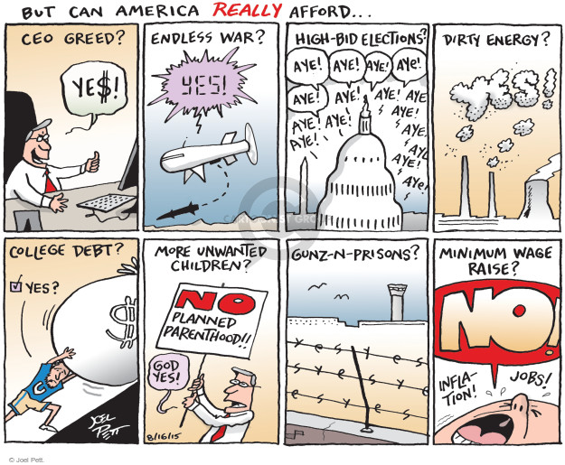 Cartoonist Joel Pett  Joel Pett's Editorial Cartoons 2015-08-16 God