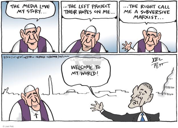 Joel Pett  Joel Pett's Editorial Cartoons 2015-09-24 political media