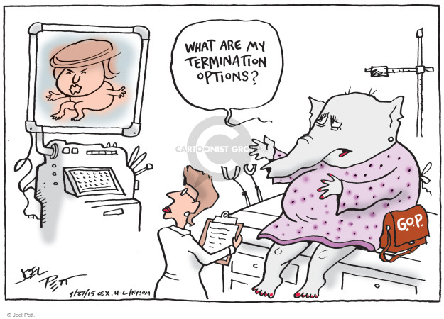 Cartoonist Joel Pett  Joel Pett's Editorial Cartoons 2015-09-27 partisan politics