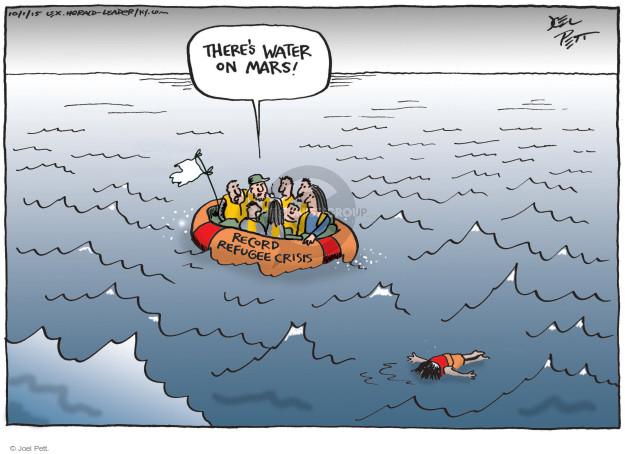 Cartoonist Joel Pett  Joel Pett's Editorial Cartoons 2015-10-01 migrant