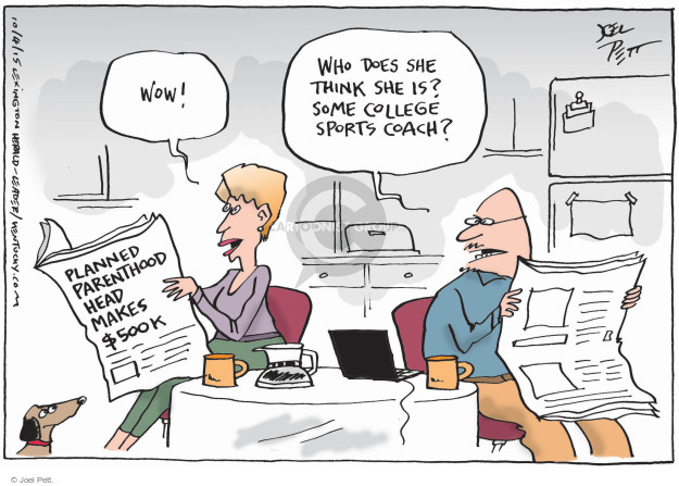 Cartoonist Joel Pett  Joel Pett's Editorial Cartoons 2015-10-04 family