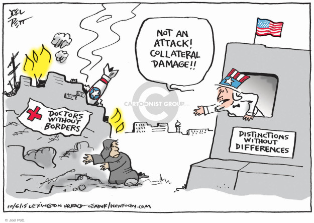 Cartoonist Joel Pett  Joel Pett's Editorial Cartoons 2015-10-06 Afghanistan