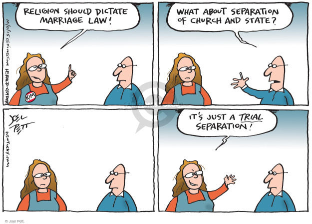 Joel Pett  Joel Pett's Editorial Cartoons 2015-10-11 separation