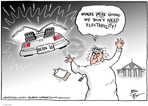 Cartoonist Joel Pett  Joel Pett's Editorial Cartoons 2015-10-20 campaign strategy