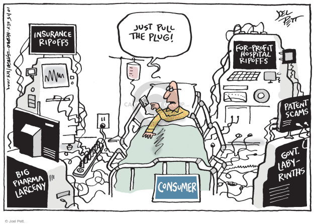Cartoonist Joel Pett  Joel Pett's Editorial Cartoons 2015-10-25 big government