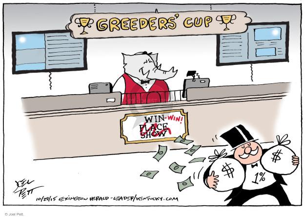 Cartoonist Joel Pett  Joel Pett's Editorial Cartoons 2015-10-29 greed
