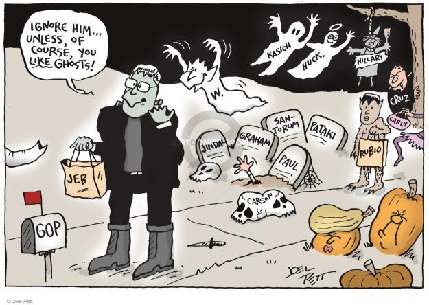 Cartoonist Joel Pett  Joel Pett's Editorial Cartoons 2015-10-30 bush