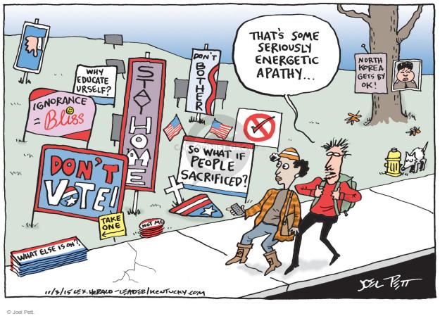 Joel Pett  Joel Pett's Editorial Cartoons 2015-11-03 people
