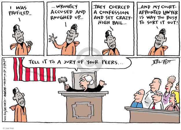 Joel Pett  Joel Pett's Editorial Cartoons 2015-11-04 judge
