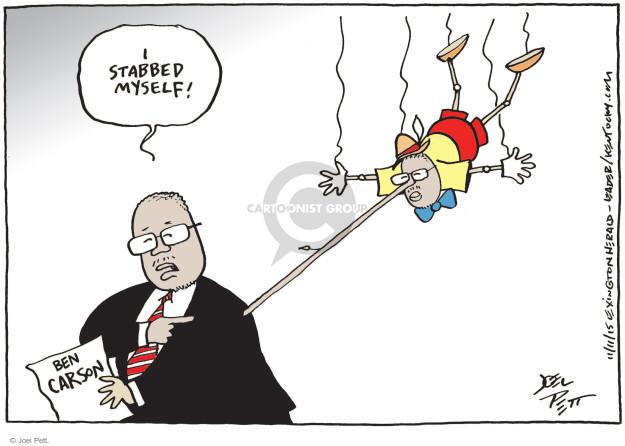 Cartoonist Joel Pett  Joel Pett's Editorial Cartoons 2015-11-11 stab in back