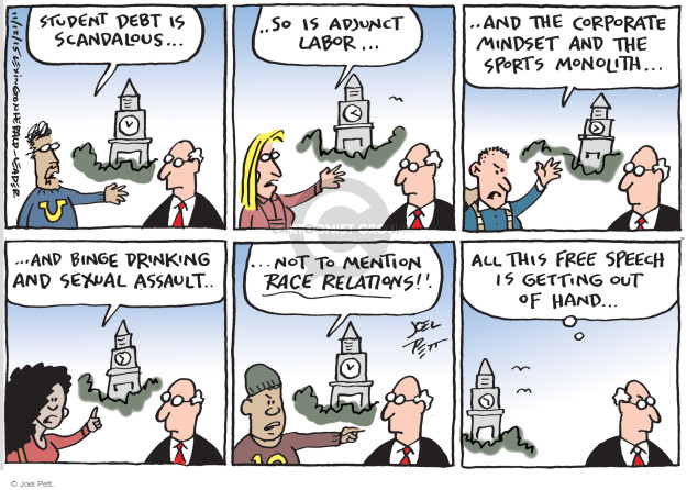 Joel Pett  Joel Pett's Editorial Cartoons 2015-11-12 freedom of speech