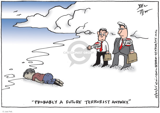 Joel Pett  Joel Pett's Editorial Cartoons 2015-11-20 immigration