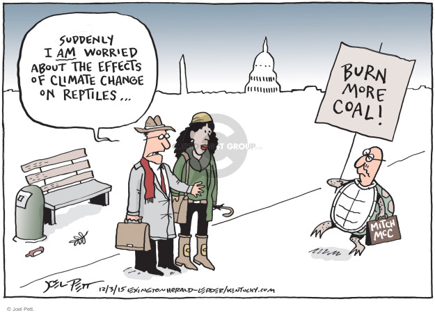 Joel Pett  Joel Pett's Editorial Cartoons 2015-12-03 worry