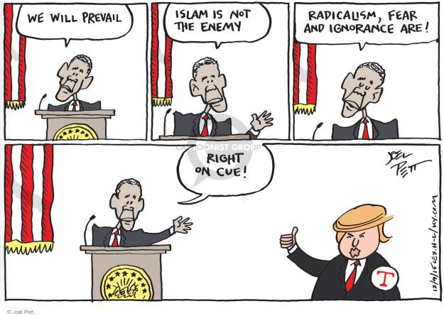 Cartoonist Joel Pett  Joel Pett's Editorial Cartoons 2015-12-09 politics and fear