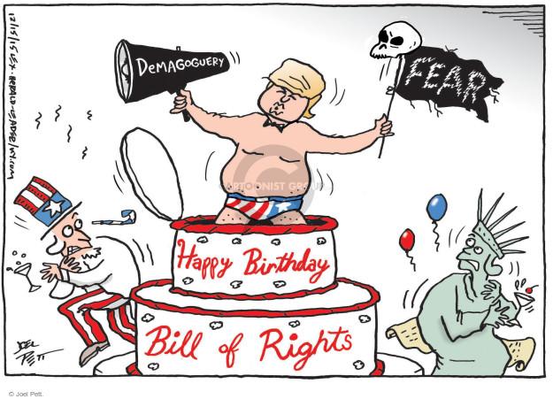 Cartoonist Joel Pett  Joel Pett's Editorial Cartoons 2015-12-15 politics and fear