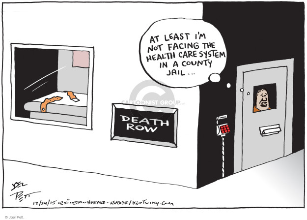 Joel Pett  Joel Pett's Editorial Cartoons 2015-12-24 incarceration