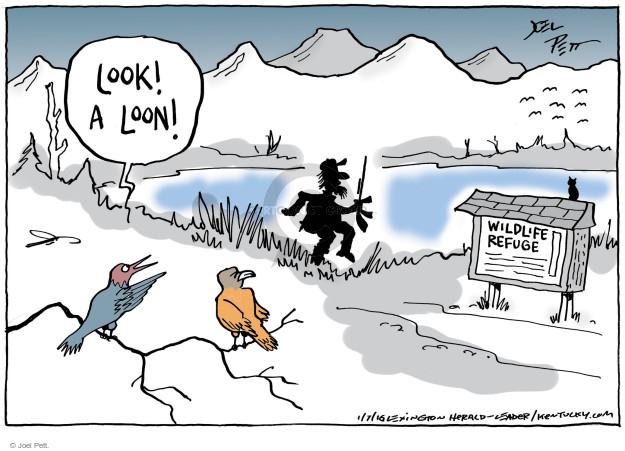 Cartoonist Joel Pett  Joel Pett's Editorial Cartoons 2016-01-07 refuge