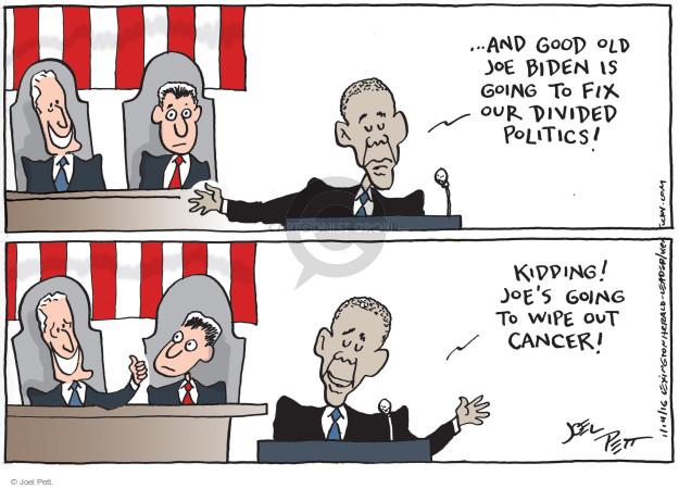 Joel Pett  Joel Pett's Editorial Cartoons 2016-01-14 Joe Biden